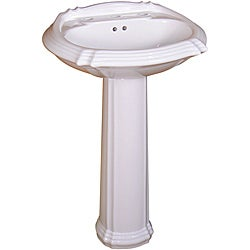 Somette Ceramic 22-inch White Pedestal Sink