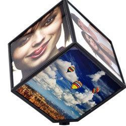 Revolving 6-photo Display Cube