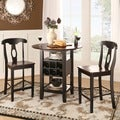 ETHAN HOME Rwanda Two-tone Napoleon 3-piece Bistro Kitchen Set