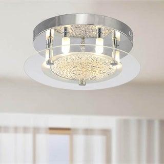 Contemporary Glass 6-light Flushmount Ceiling Chandelier