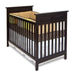 Logan Traditional Jamocha Stationary Crib