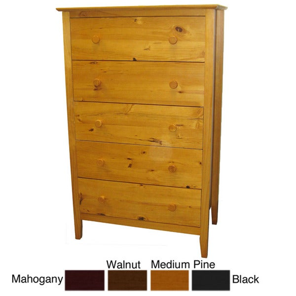 Scandinavia Solid Pine 5-drawer Dresser