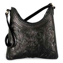 Leather 'Nocturnal Flower' Medium Handbag (Mexico)