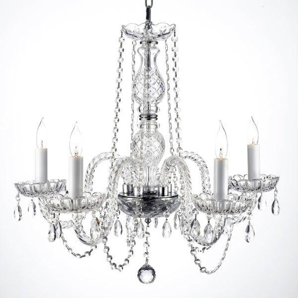 Gallery Venetian Style All-crystal 5-light Chandelier