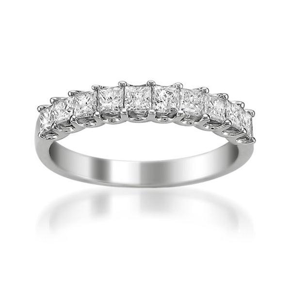 14k White Gold 1ct TDW Princess Diamond Wedding Band (H-I, I1-I2)