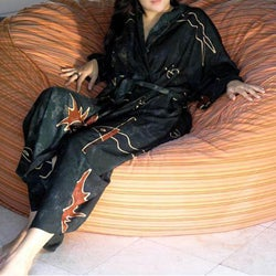 Rayon 'Jungle Sun' Batik Robe (Indonesia)