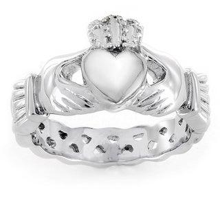 ELYA Stainless Steel Women's Claddagh Ring