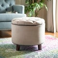 Reims Light Grey Storage Ottoman