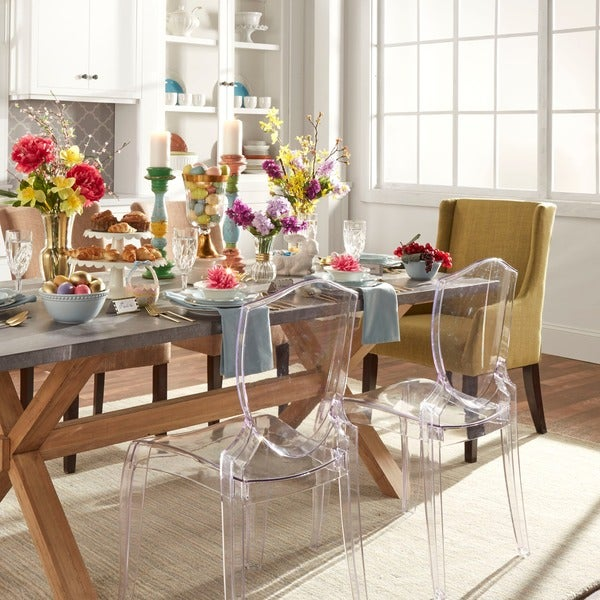 INSPIRE Q Canali Sleek Modern Accent Chair (Set of 2)