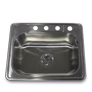 Stainless Steel Rectangular Kitchen Sink With Colander Drain