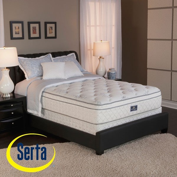 Serta Perfect Sleeper Conviction Euro Top Split Queen-size Mattress and Box Spring Set