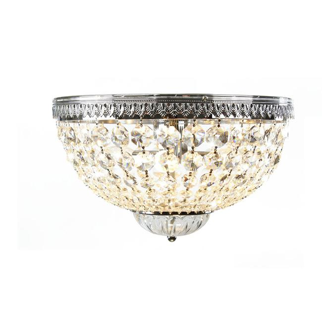 Annecy Supreme Flush Mount Chrome and Crystal Chandelier