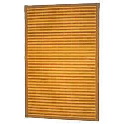 Asian Hand-woven Brown Stripe Bamboo Rug (1'8 x 2'7)