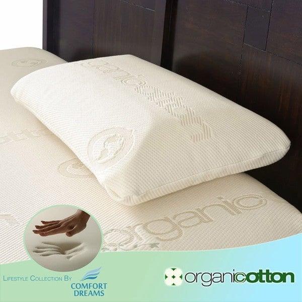 Comfort Dreams Organic Cotton King-size Memory Foam Pillow