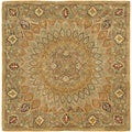 Safavieh Handmade Medallion Light Brown/ Grey Wool Rug (6' Square)