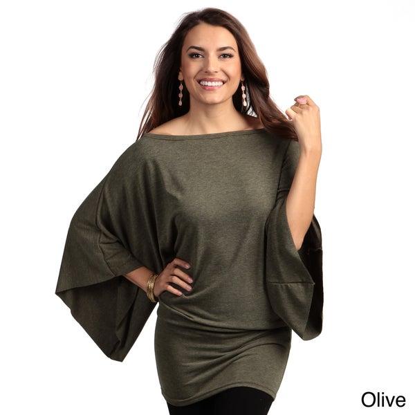 Elan Women's Dolman Sleeve Oversized Top