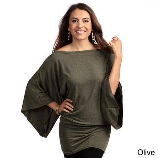 Elan Women's Dolman Sleeve Oversized Top
