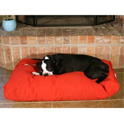 24x36-inch Red Rectangle Pet Bed