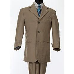 Ferrecci Boy's Tan 3-button Suit