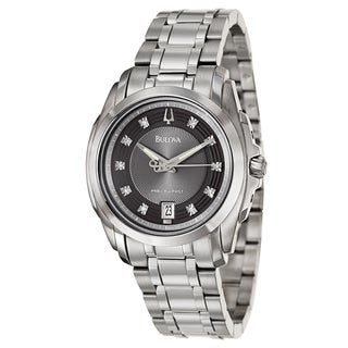 Bulova Men's 96D110 Precisionist 'Longwood' Diamond Dial Bracelet Watch