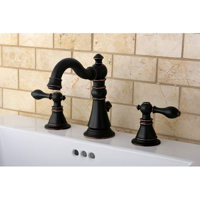 American Patriot Two Tone Oil Rubbed Bronze Bathroom Faucet Overstock Shopping Great Deals