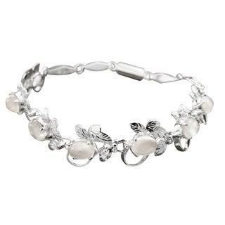 Sterling Silver 'Misty Affair' Moonstone Bracelet (India)