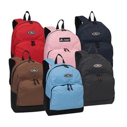 Everest 15-inch Basic Polyester Backpack with Padded Shoulder Straps