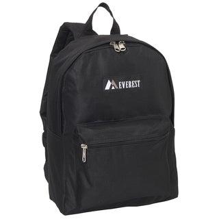 Everest 15-inch Basic Polyester Backpack with Padded Shoulder Straps