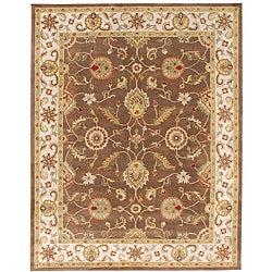 Hand-tufted Mahia Brown Wool Rug (8' X 10')