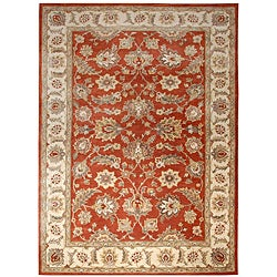 Hand-tufted Mahene Red Wool Rug (5' X 8')