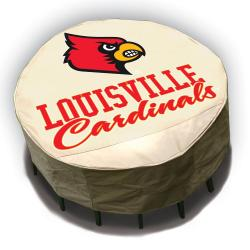 NCAA Louisville Cardinals Round Patio Set Table Cover