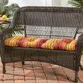 44-inch Outdoor Kinnabari Stripe Swing/ Bench Cushion