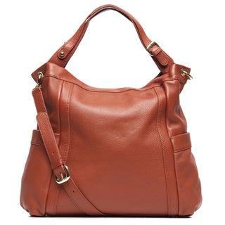 Presa Kennington Oversized Chestnut Leather Hobo Bag