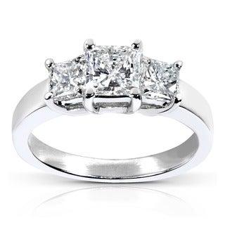 Annello 14k White Gold 1 5/8ct TDW Certified Diamond Engagement Ring (H-I, SI2-I1) with Bonus Item