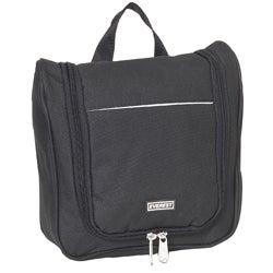 Everest 10-inch Black Waterproof Toiletry Bag