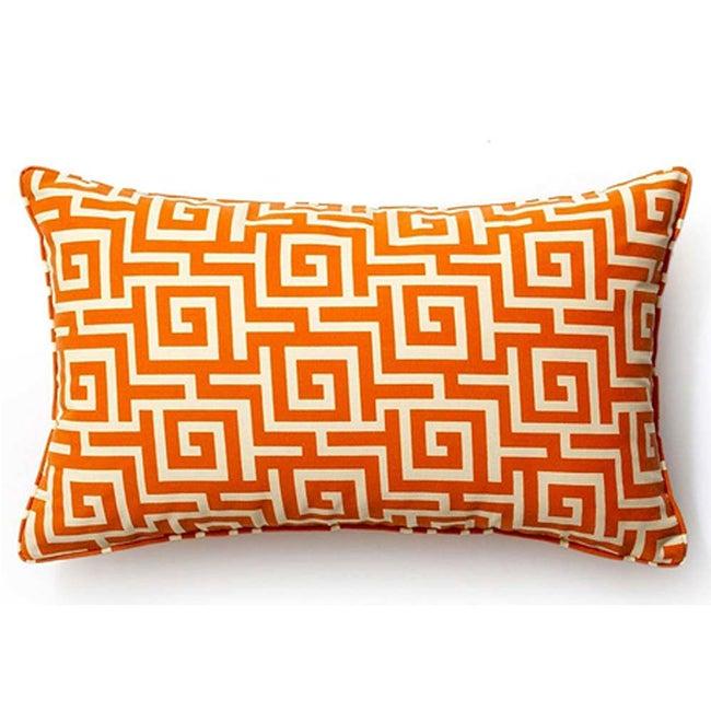 Orange Puzzle Outdoor Decorative Pillow