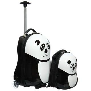 Trendykid Travel Buddies Panda 2-pc Hardside Kid's Carry On Luggage Set