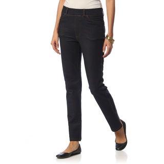 La Cera Women's Five-Pocket Denim Knit Jegging
