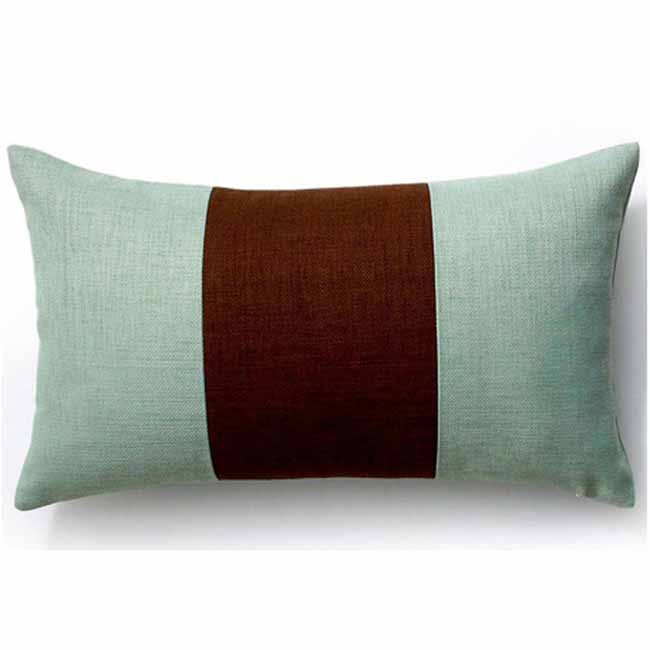 Rebel Pieces Chocolate/Mint Outdoor Pillow
