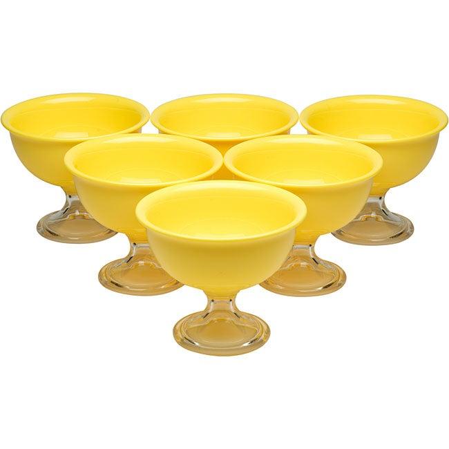 Red Vanilla Yellow Summer Ice Cream Bowls (Pack of 6)