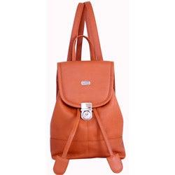 Leatherbay English Tan Leather Mini Backpack