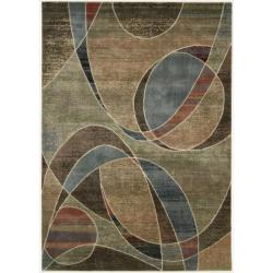 Nourison Expressions Multicolor Ribbons Ru (9'6 x 13'6)