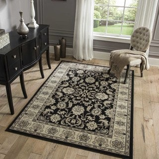 Westminster Traditional Black Rug (9'10 x 13'6)