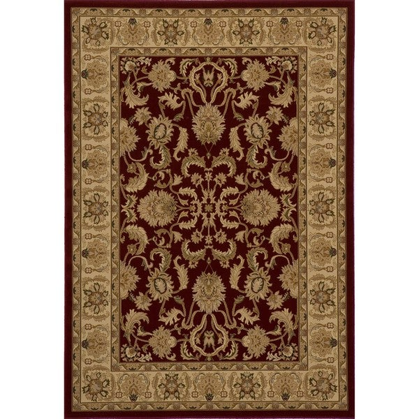 """Westminster Agra Red Power-Loomed Rug (9'10"""" x 13'6"""")"""