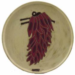 Mara Stoneware Round Chilies Platter (Mexico)