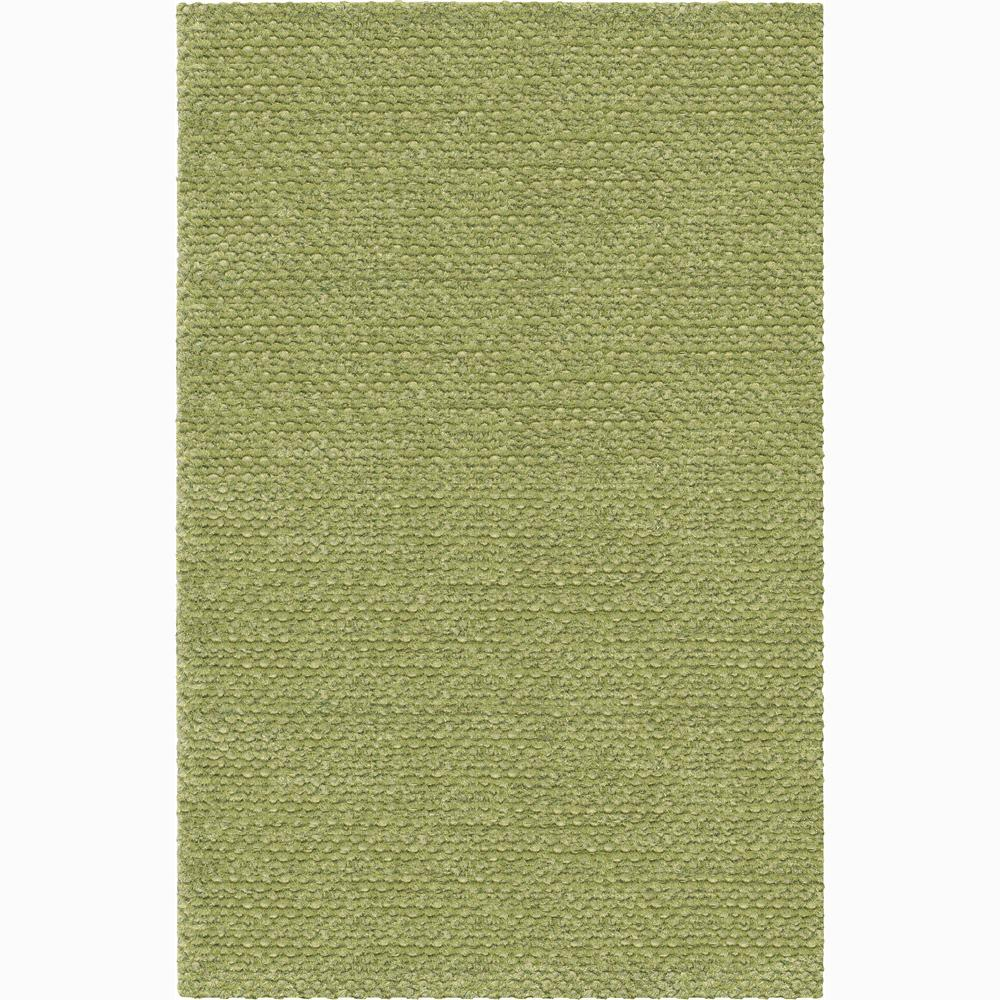 Handwoven One-Inch Green Mandara New Zealand Wool Rug (2'6 x 7'6)