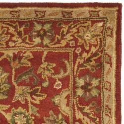 Safavieh Handmade Heirloom Red Wool Rug (3' x 5')