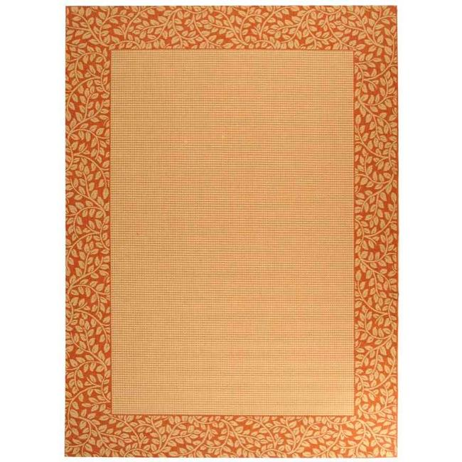 Safavieh Indoor/ Outdoor Natural/ Terracotta Rug (9'2 x 11'7)