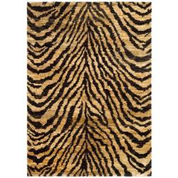 Safavieh Hand-knotted Vegetable Dye Tiger Beige/ Black Rug (9' x 12')