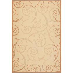 Safavieh Indoor/ Outdoor Oasis Natural/ Terracotta Rug (9' x 12')